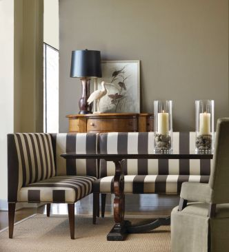 Lee Industries Upholstered Benches and Dining Table