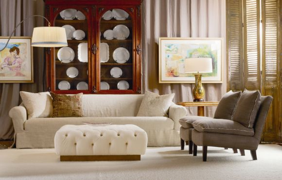 Lee Industries Upholstered Chairs, Ottoman and Sofa