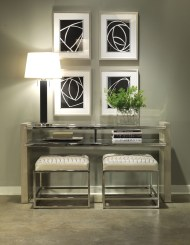 Vanguard Michael Weiss Foyer with Table and Upholstered Stools