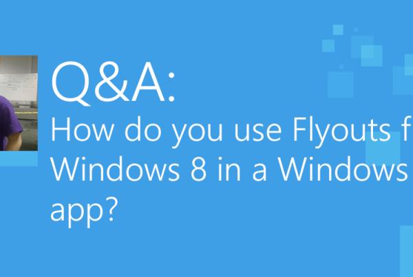 Q&A - Flyouts