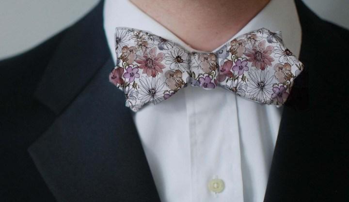 flowers neck tie copy