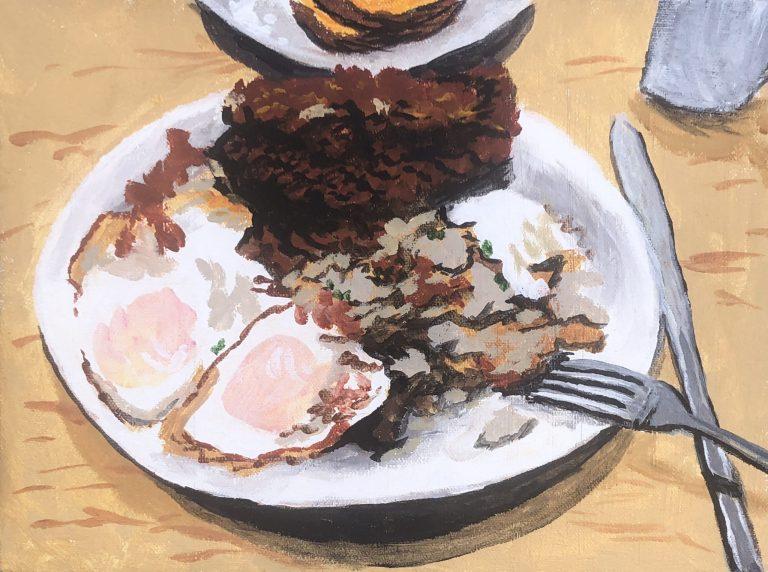 Schnitzel Breakfast at The Falafel Place