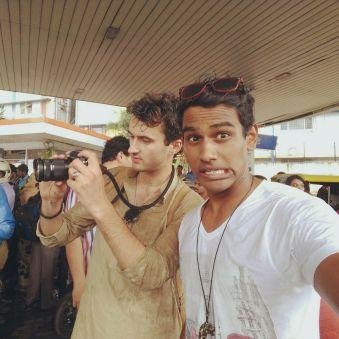 Behind the scenes, Bangalore, India...