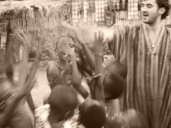 With my slum warriors in Ho, Ghana, where I lived in a house with a tin roof, and had to jump over open-air sewers to get to the streets, for a few weeks.