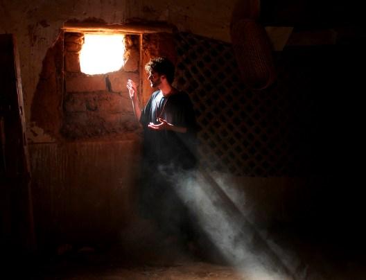 Self-portrait in a Kasbah, Tagounite, Morocco