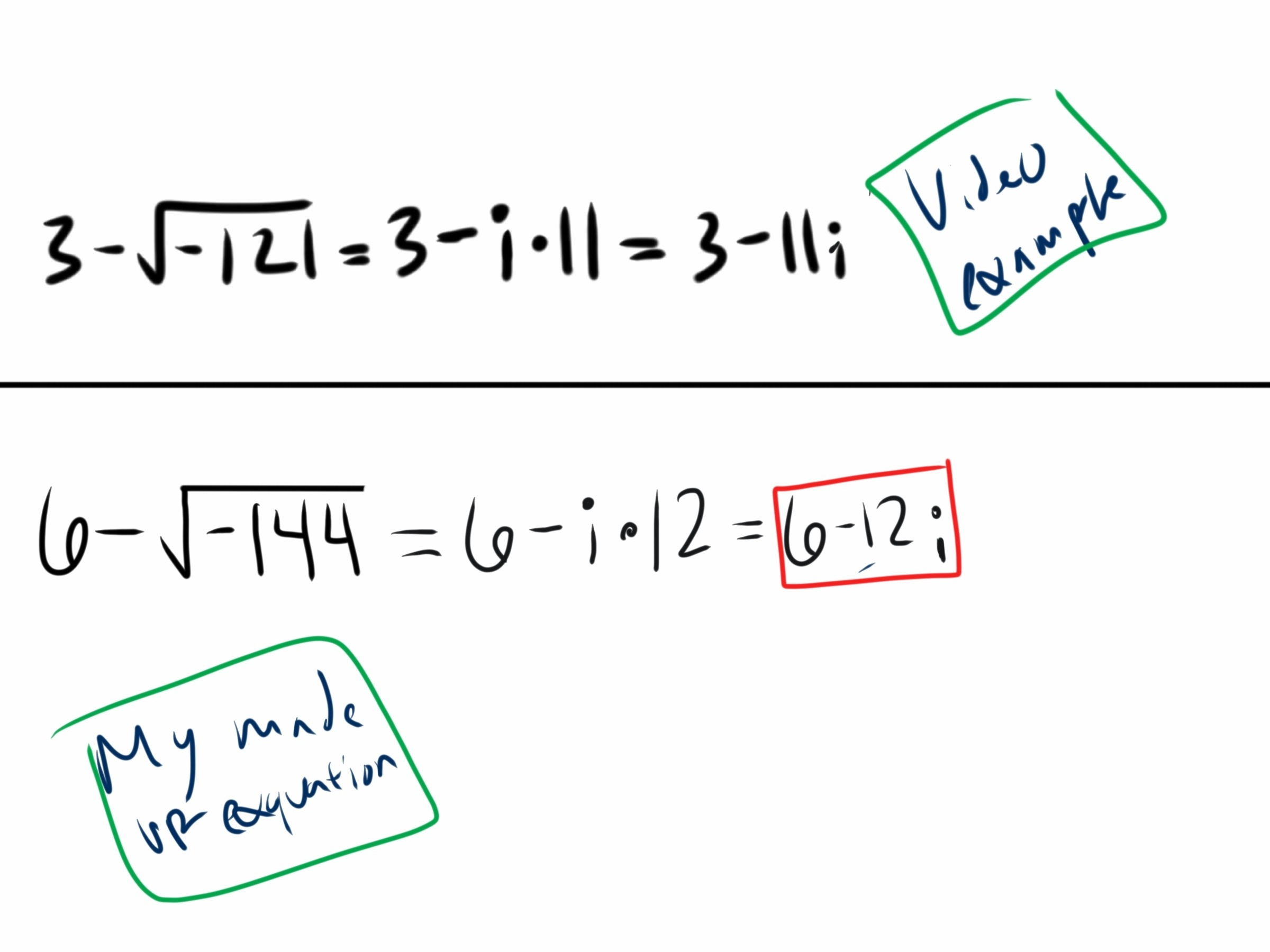 Radicals And Complex Numbers F T Feb 1 5