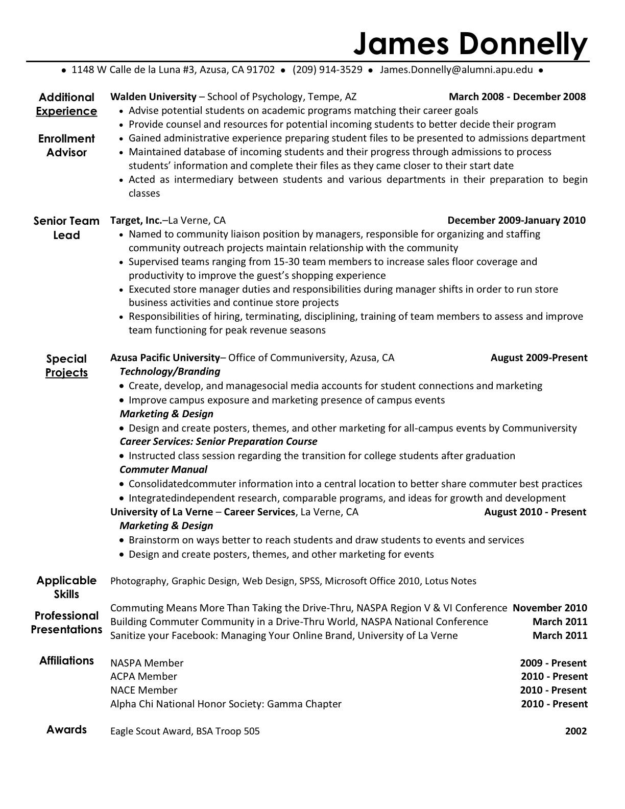 examples of extracurricular activities for resumes template