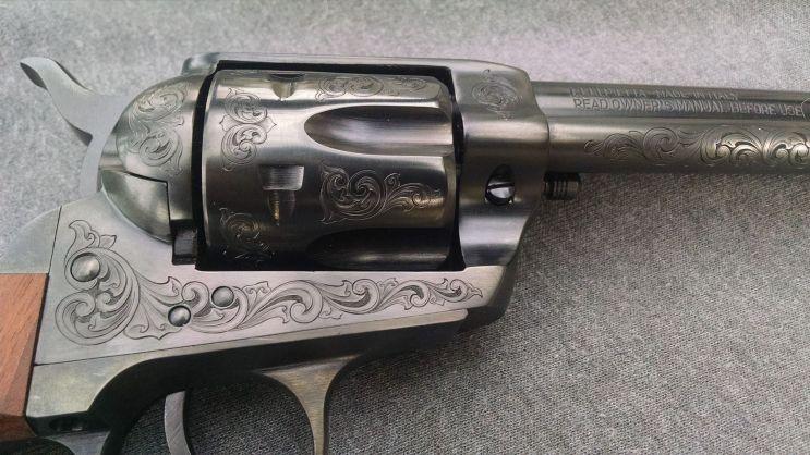 Hand Engraved Pistol