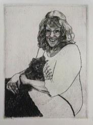 Student: Samantha Richey, Portrait, Metal Engraving, 4 x 3