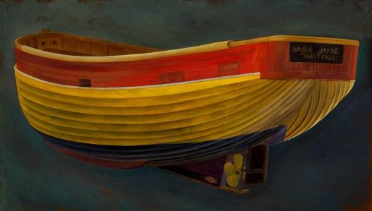 Stern of Hastings Beach Boat