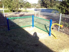 music play structure in place