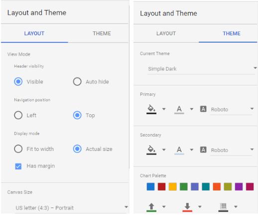 Data Studio styling options