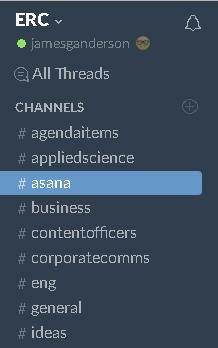 Slack channels