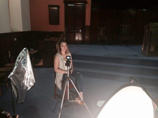 Filming Kirsty Lee