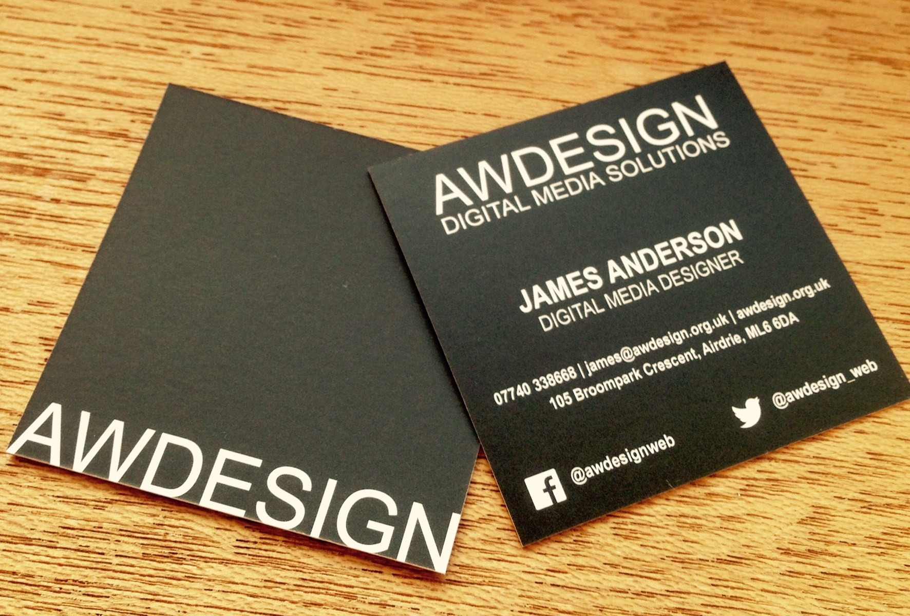 Awdesign business cards