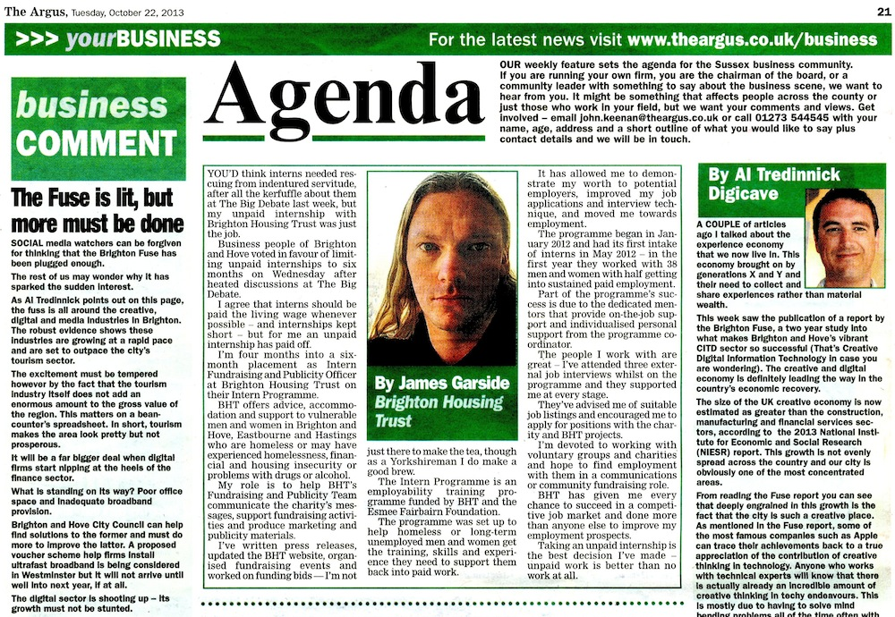 Agenda - The Argus, The Benefits of Unpaid Internships