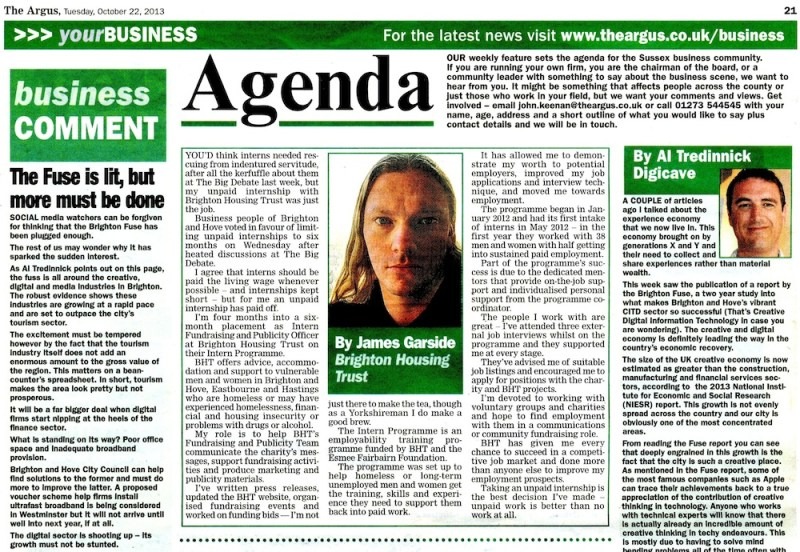 Agenda - The Argus, The Benefits of Unpaid Internships