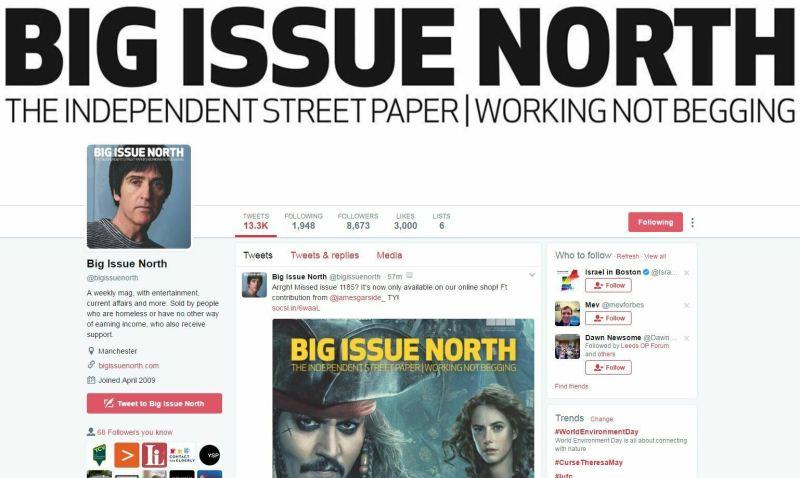 big issue north - featuring James Garside - Twitter