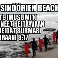 Suomeen tunkeutuvat muslimi-koneinisinöörit hukuttivat kristittyjä Välimereen. Islamilla ei tietenkään mitään tekemistä asian kanssa