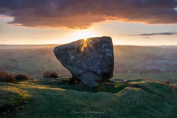 Baslow Edge - The Anvil - Peak District Photography
