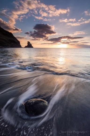 Talisker Bay Sunset - Isle of Skye - Scotland Photography