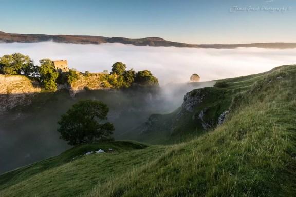 Sea Of Mist - Peveril Castle Sunrise - Peak District Photography