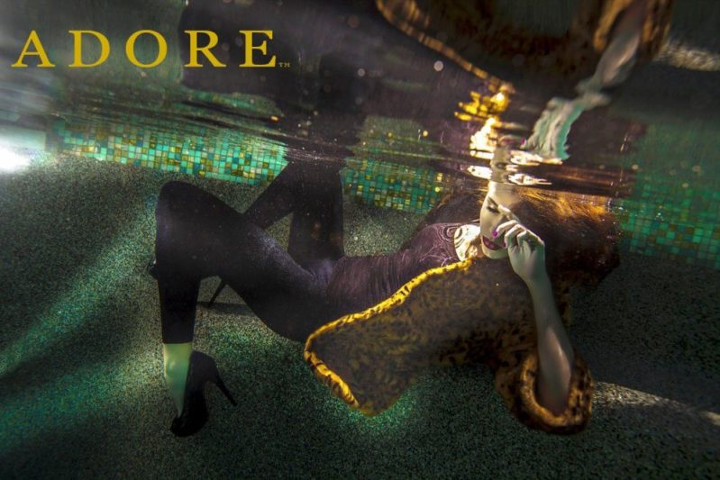 Underwater Fashion Campaign for Adore photographed by Los Angeles Fashion Photographer James Hickey