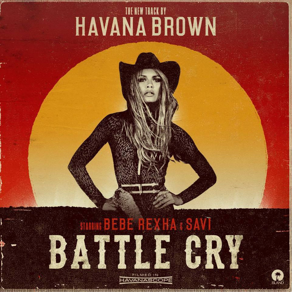 Havana Brown Battle Cry Album Cover by Los Angeles Music Photographer James Hickey
