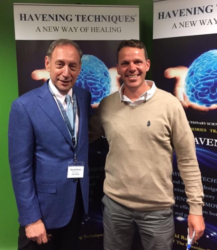 Havening Techniques® creator  Dr Ronald Ruden  and James Hymers Havening practitioner