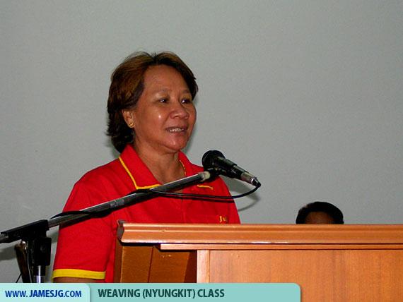 Mdm. Julia Jugak, DAM Women Section chairlady