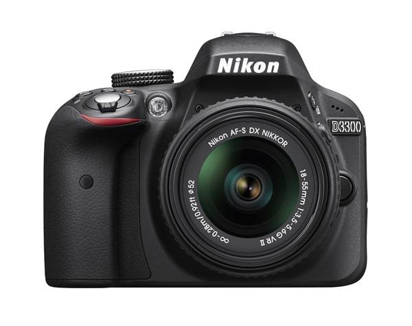 Nikon D3300 24.2 MP CMOS Digital SLR with AF-S DX NIKKOR 18-55mm f/3.5-5.6G VR II Zoom Lens (Black)