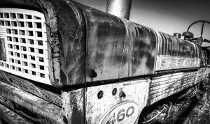 Day 3 of the 5 Day Black and White Photo Challenge: Abandoned Farmall International 460 Tractor