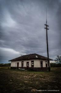 The Abandoned Santa Fe Rail Depo in Hamlin, Texas