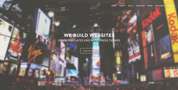 Hip - Creative One Page WordPress Theme