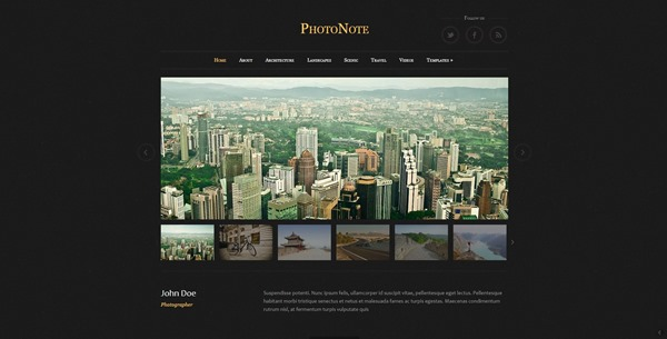 PhotoNote Photography Theme