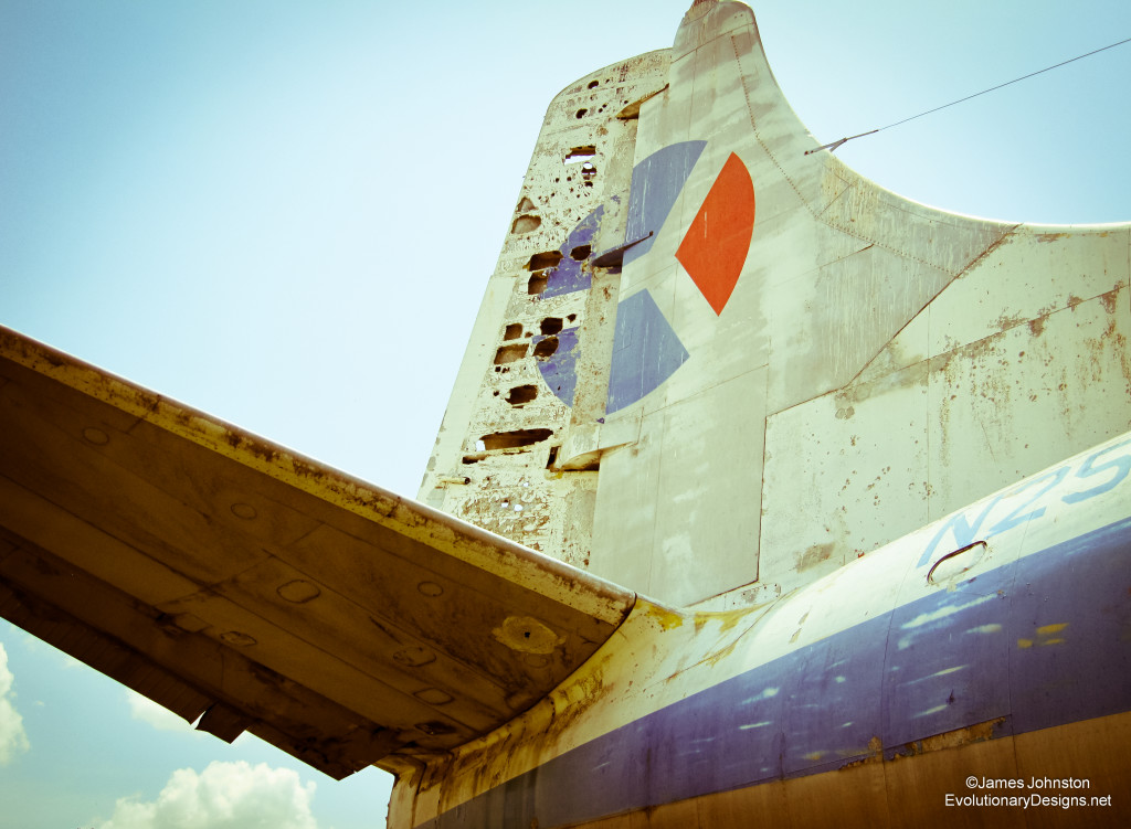 Abandoned 404 Martin Passenger Plane  - Tail