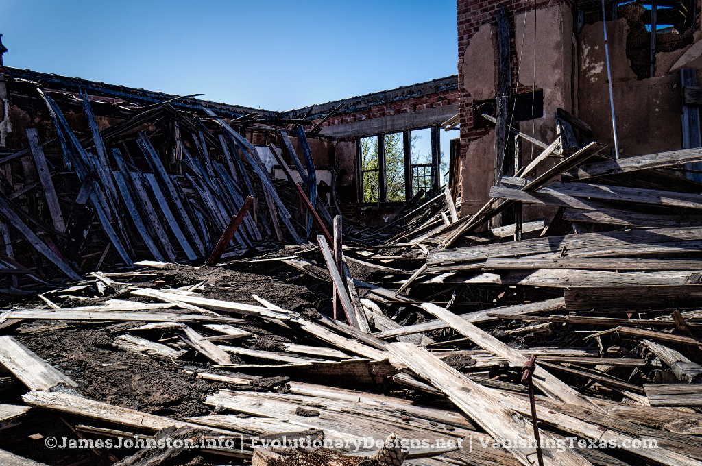 Abandoned Building South of Stamford, Texas - Collapsed