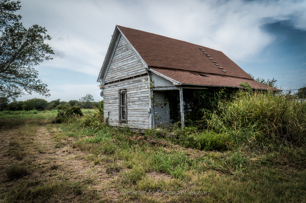 Abandoned Farm House East of Ector, Texas