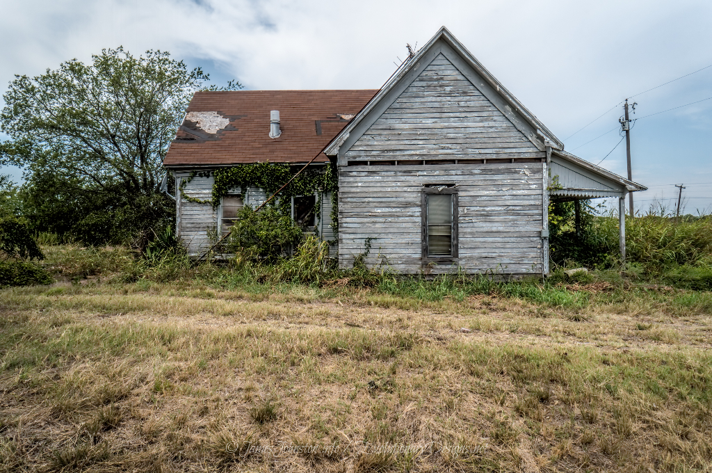 Abandoned Farm House West of Ector, Texas - Side view