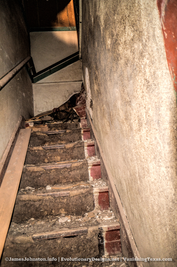 The Abandoned Palace Theater in Anson, Texas - The Decaying Stairs to the Balcony