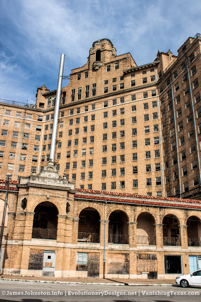 The Incinerator and back side of the building - The Abandoned Baker Hotel in Mineral Wells, Texas