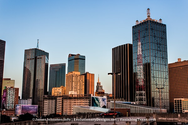 Renaissance Tower and Surrounding Buildings at Sunset