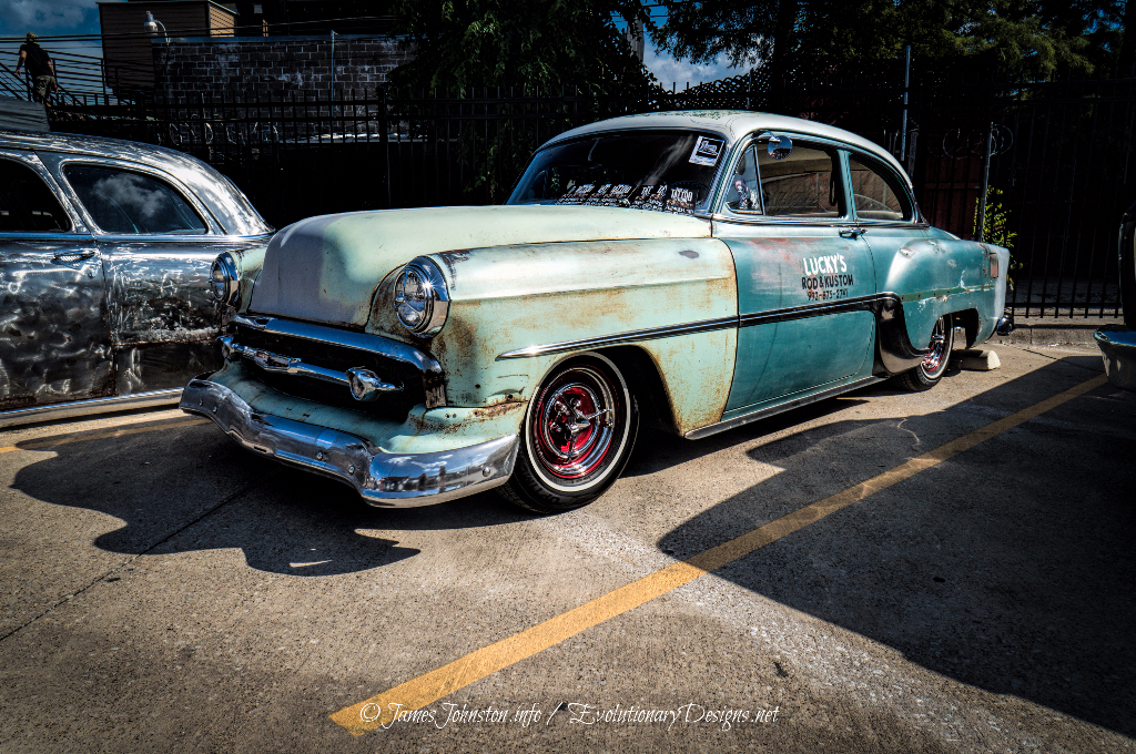 Lucky's Rod & Kustom Chevrolet 210 Kustom Shop Car - Invasion Car Show