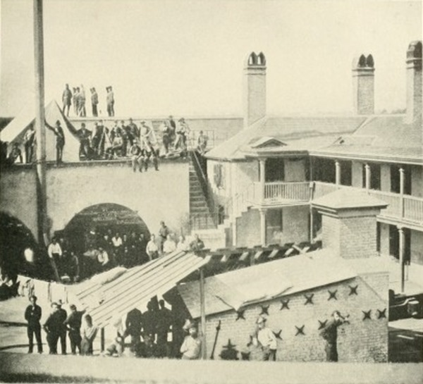 Federal prisoners captured at the First Battle of Bull Run were transported to Charleston S.C. and held inside a makeshift prison at Castle Pinckney.