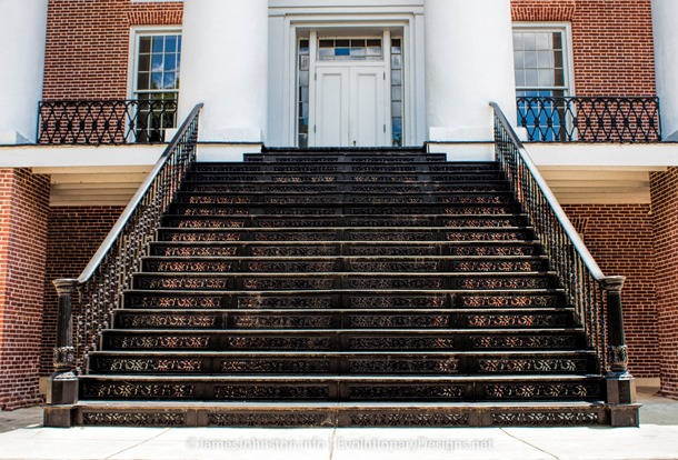 The Windsor Ruins - Iron stairway was installed at the Oakland Memorial Chapel on the Alcorn State University grounds.