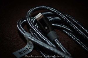 Anker PowerLine+ Lightning 6ft Gray Durable Fast Double Braided Nylon Cable