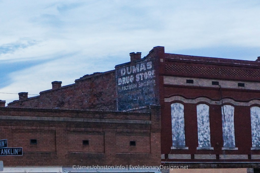 Dumas Drug Store - Ghost Signs in Natchez, Mississippi