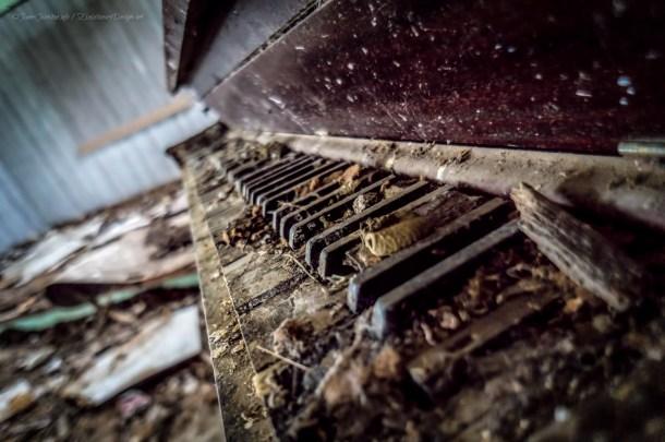 Abandoned Upright Piano