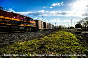 Random Picture of the Week #59: Kansas City Southern Evening Train Passing Through Greenville, Texas
