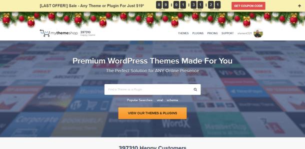 MyThemeShop Christmas and New Year Sale
